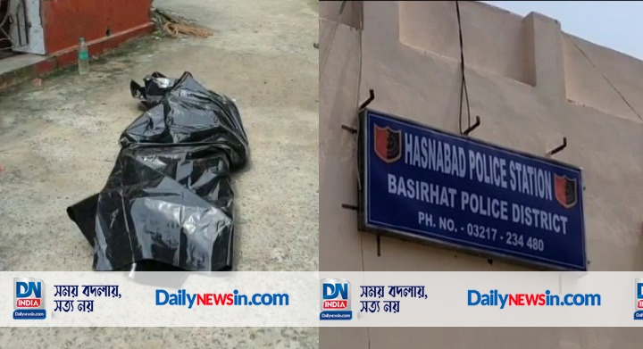Police suspect the body was found hanging from the gate of Kali Mandir